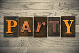 Party Concept Wooden Letterpress Type