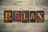 Relax Concept Wooden Letterpress Type