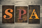 Spa Concept Wooden Letterpress Type