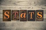 Stats Concept Wooden Letterpress Type