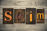 Swim Concept Wooden Letterpress Type