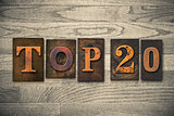 Top 20 Concept Wooden Letterpress Type