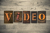 Video Concept Wooden Letterpress Type