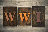WWI Concept Wooden Letterpress Type