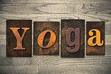Yoga Concept Wooden Letterpress Type