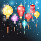 illustration Chinese lanterns