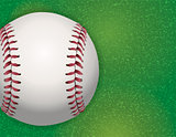 Baseball on Textured Grass Illustration