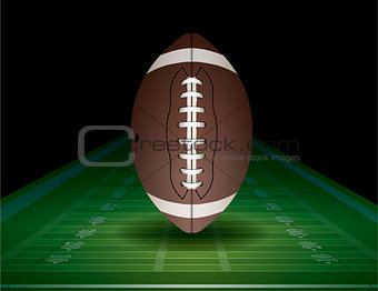 American Football and Field Illustration