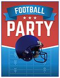 American Football Party Illustration