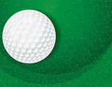 Golf Ball on Textured Green Illustration
