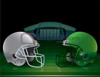 American Football Championship Illustration
