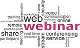 word cloud - webinar