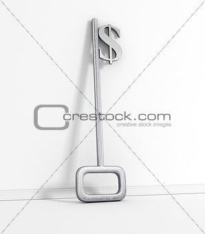 A key with a dollar-sign implemented on White.