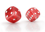 Super dice on a white background.