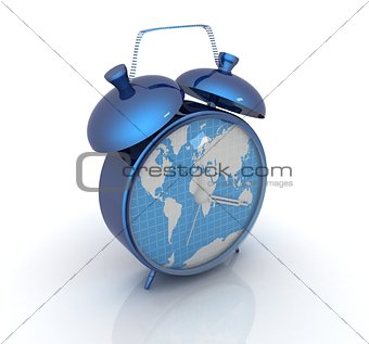Clock of world map