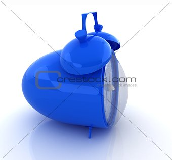 alarm clock 3d illustration isolated on white