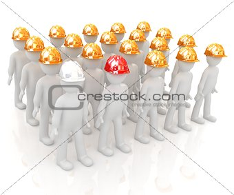 3d mans in a hard hat