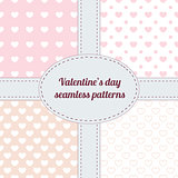 Set of Valentine seamless patterns