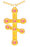 Cross from gild