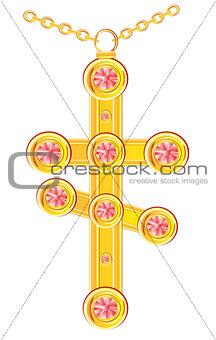 Cross from gild