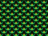 Seamless decorative pattern with a leaves