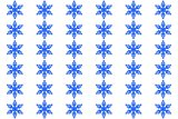 Seamless decorative pattern with a snowflaces
