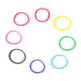 Colorful pencil circles set