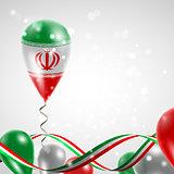 Flag of Iran on balloon