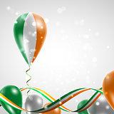 Flag of Ireland on balloon