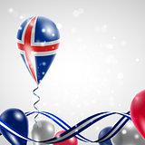 Flag of Iceland on balloon