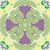 Seamless Green and Purple Pattern