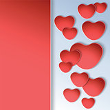 Heart shapes on colorful background to the Valentines day.