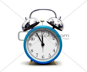 Alarm Clock over White