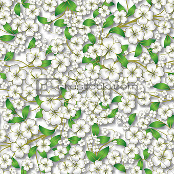abstract floral ornament on white
