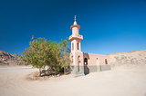 Mosque in remote desert egyptian village