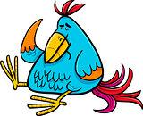 exotic fantasy bird cartoon illustration