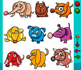 dogs game characters cartoon illustration