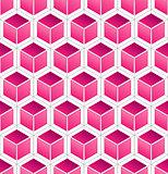 Pink Cube Pattern