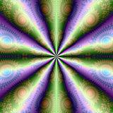 Ten Cones in Green and Purple