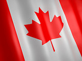 3d illustration. Canada flag.