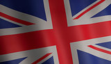 flag of united kingdom 3d illustration