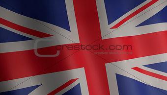 flag of united kingdom 3d illustration