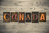 Canada Concept Wooden Letterpress Type