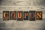 Coupon Concept Wooden Letterpress Type