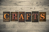 Crafts Concept Wooden Letterpress Type