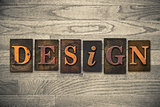 Design Concept Wooden Letterpress Type