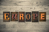 Europe Concept Wooden Letterpress Type