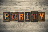 Purity Concept Wooden Letterpress Type