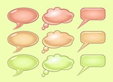 Pastel color speech bubbles