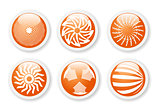 Orange abstract symbols